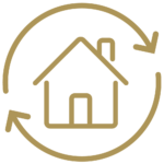 Refinancing a Home Icon